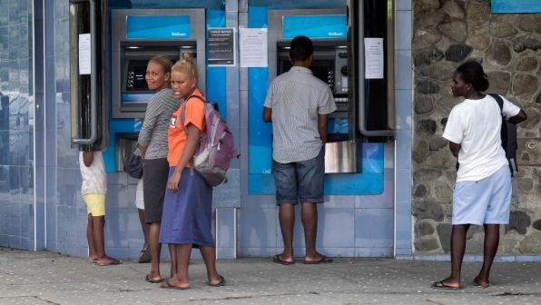 ATMs in Hoinara, Solomon Islands.