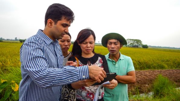 Agricultural data collection in rural Viet Nam.