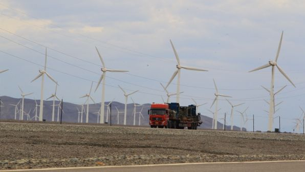 Wind farm in Turpan, PRC.