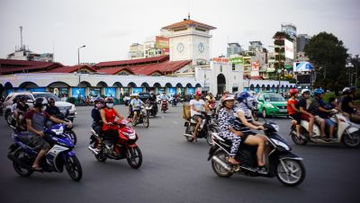 Traffic in Ho Chi Minh City.