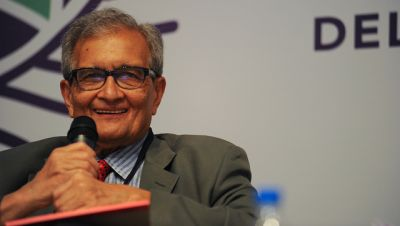 Amartya Sen, Nobel Laureate for Economics and Professor of Economics and Philosophy at Harvard University, as one of the seminar panelists.